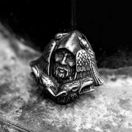 Colgante Vikingo Odin Lobo de Acero Inoxidable