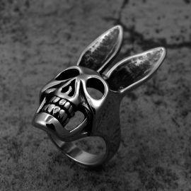 Anillo de Acero Inoxidable con Calavera de Conejo