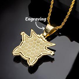 Colgante de Gengar con Diamantes de Oro