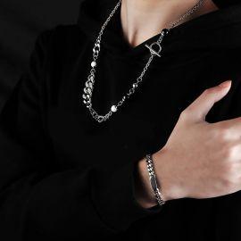 Collar de Acero Inoxidable Patchwork de Cadena Cubana