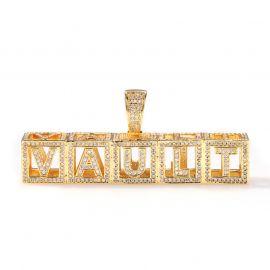 Colgante de Letra Personalizada Hueca de Oro