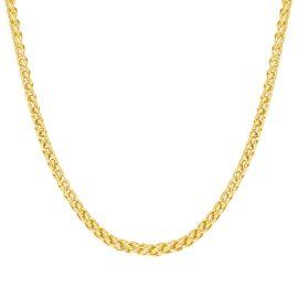 3mm Cadena de Franco Sólida de Plata 925 de Oro