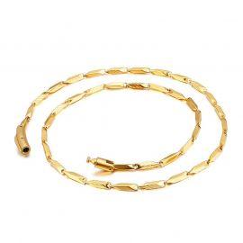 4mm Cadena de Bambú de Acero de Titanio de Oro