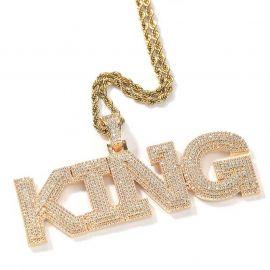 Colgante Pavimentado con Nombre Personalizado de Oro