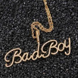 Colgante de Nombre Personalizado de Cristal de Oro