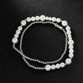 Collar de Perlas de Acero de Titanio