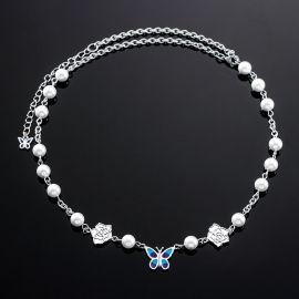 Cadena Mariposa con Perla Blanca