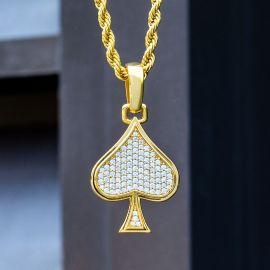 Colgante de Pala de Naipes con Diamantes