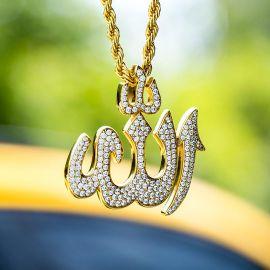 Colgante de Alá Musulmán con Diamantes