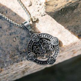 Colgante de Acero Inoxidable de Amuleto Nórdico de Valknut