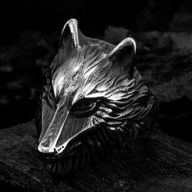 Anillo Retro de Acero Inoxidable de Lobo