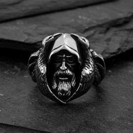 Anillo Lobo de Odín de la Mitología Nórdica  de Acero Inoxidable