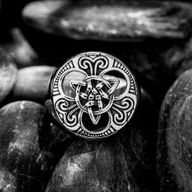 Anillo de Acero Inoxidable con Nudo Celta Vikingo