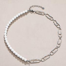 Collar de Perlas con Clip de Acero Inoxidable