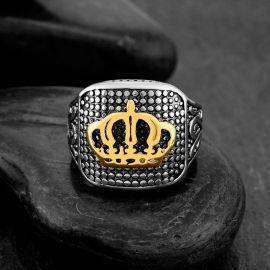 Anillo Corona Real de Acero Inoxidable