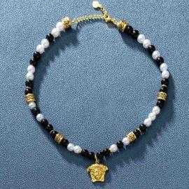 Collar Banshee de Perlas Negras de Oro