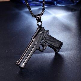 Colgante de Pistola de Acero Inoxidable