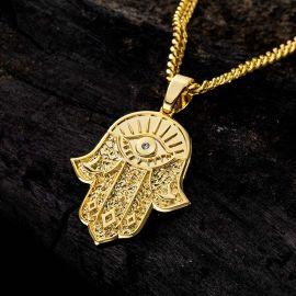 Colgante Mano de Hamsa de Oro