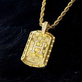 Colgante de Letra Inicial de la A a la Z con Diamantes de Oro
