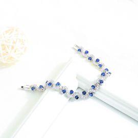 Pulsera de Cristal Azul para Mujer