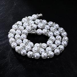 Collar de Perlas y Nueces con Diamantes