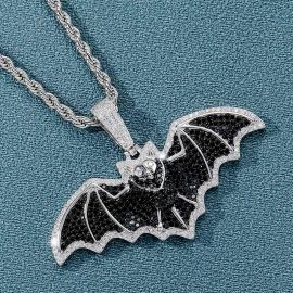 Colgante de Murciélago Volador con Diamantes
