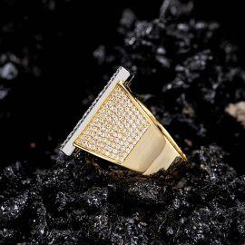 Anillo con Letra inicial H con Diamantes