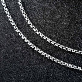 5mm Cadena Rolo de Plata
