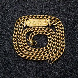 6mm Collar Cubano Egipcio