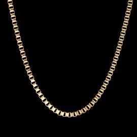 3mm Cadena de Caja Cuadrada de Oro