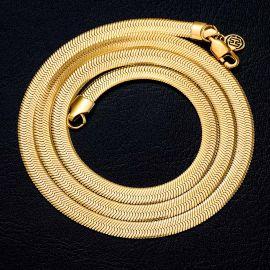 6mm Cadena de Serpiente de Oro