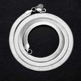 6mm Cadena de Serpiente de Plata