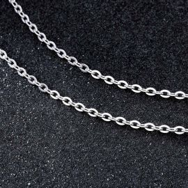 3mm Cadena Tipo Rolo de Plata