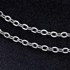 5mm Cadena Tipo Rolo de Plata
