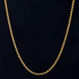 3mm Cadena Tipo Cable Redonda de Oro