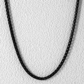 3mm Cadena Rolo de Oro Negro