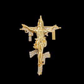 Colgante de Cruz con Pistola Crucifijo de Jesucristo