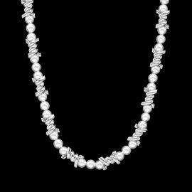 Collar de Perlas con Cadena de Púas