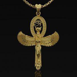 Colgante Ankh Diosa Isis con Ojo de Horus